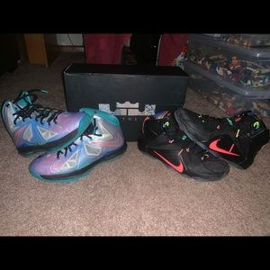 Lebron 10 and Lebron 12
